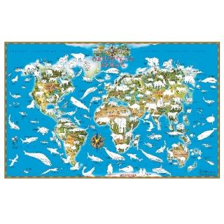 Карта Мира Обитатели Земли раскраска