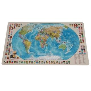 Карта Мир политическая с флагами на магнитах