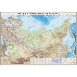 Карта. Российская Федерация и сопредельные государства.