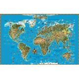 Карта Мира для детей.