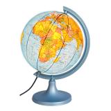 Глобус физико-политический с подсветкой.